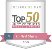 TopVerdict.com Top 50 Jury Verdicts - Product Liability - United States 2018